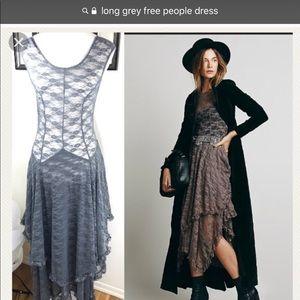 Free people long asymmetrical lace dress